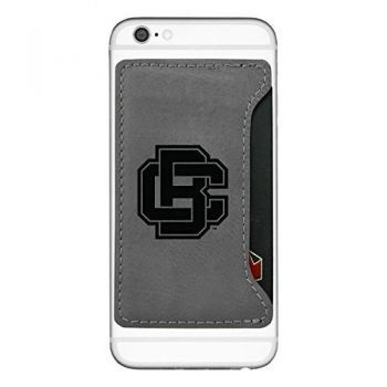 Bethune-Cookman University-Cell Phone Card Holder-Grey
