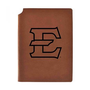 East Tennessee State University Velour Journal with Pen Holder|Carbon Etched|Officially Licensed Collegiate Journal|