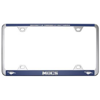 University of Tennessee at Chattanooga-Metal License Plate Frame-Blue