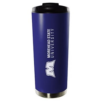 Morehead State University-16oz. Stainless Steel Vacuum Insulated Travel Mug Tumbler-Blue