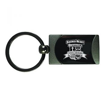 Sacred Heart University -Two-Toned Gun Metal Key Tag-Gunmetal