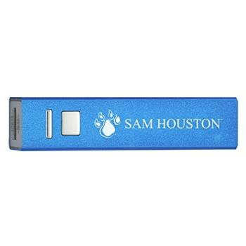 Sam Houston State University - Portable Cell Phone 2600 mAh Power Bank Charger - Blue