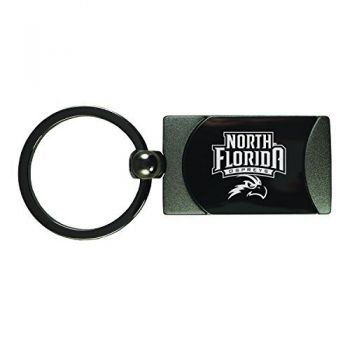 University of North Florida-Two-Toned gunmetal Key Tag-Gunmetal