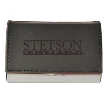 Velour Business Cardholder-Stetson University-Black