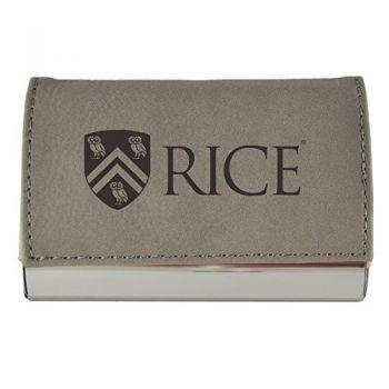 Velour Business Cardholder-Rice University-Grey