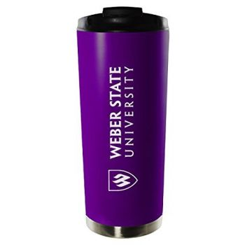 Weber State University-16oz. Stainless Steel Vacuum Insulated Travel Mug Tumbler-Purple