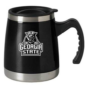 Georgia State University - 16-ounce Squat Travel Mug Tumbler - Black
