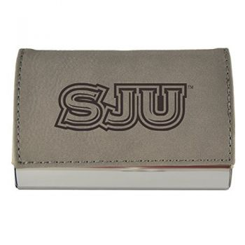 Velour Business Cardholder-Saint Joseph's university-Grey