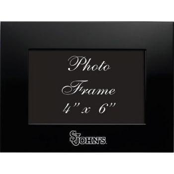 Saint John's University - 4x6 Brushed Metal Picture Frame - Black