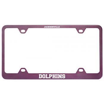 Jacksonville University -Metal License Plate Frame-Pink