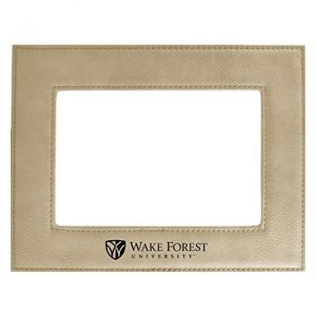 Wake Forest University-Velour Picture Frame 4x6-Tan