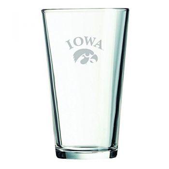 University of Iowa-16 oz. Pint Glass