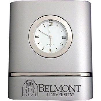 Belmont University- Two-Toned Desk Clock -Silver