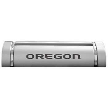 University of Oregon-Desk Business Card Holder -Silver