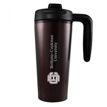 Bethune-Cookman University-16 oz. Travel Mug Tumbler with Handle-Burgundy