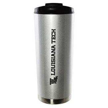 Louisiana Tech University-16oz. Stainless Steel Vacuum Insulated Travel Mug Tumbler-Silver