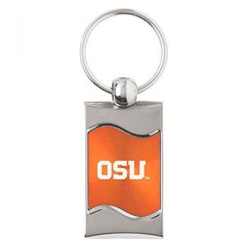 Oregon State University - Anodized Aluminum Valet Key Tag - Black