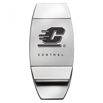 Central Michigan University - Two-Toned Money Clip - Silver