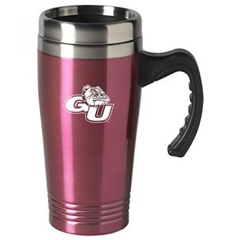 Gonzaga University-16 oz. Stainless Steel Mug-Pink