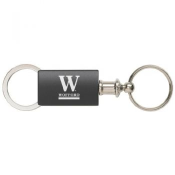 Wofford College - Anodized Aluminum Valet Key Tag - Black