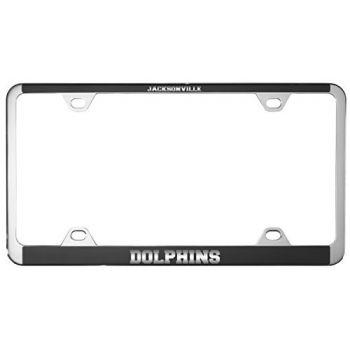 Jacksonville University -Metal License Plate Frame-Black