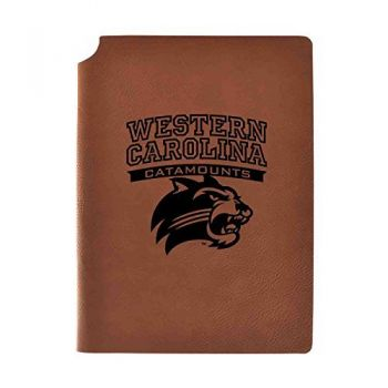 Western Carolina University Velour Journal with Pen Holder|Carbon Etched|Officially Licensed Collegiate Journal|