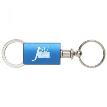 Jackson State University - Anodized Aluminum Valet Key Tag - Blue
