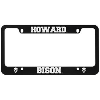 Howard University -Metal License Plate Frame-Black
