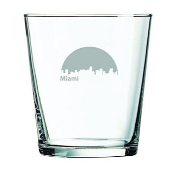 13 oz Cocktail Glass - Miami City Skyline