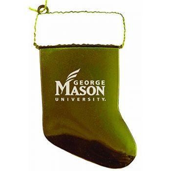 George Mason University - Christmas Holiday Stocking Ornament - Gold