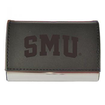 Velour Business Cardholder-Southern Methodist University-Black