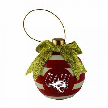 University of Northern Iowa-Christmas Bulb Ornament