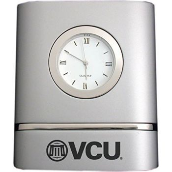 Virginia Commonwealth University- Two-Toned Desk Clock -Silver