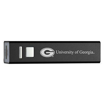 University of Georgia - Portable Cell Phone 2600 mAh Power Bank Charger - Black