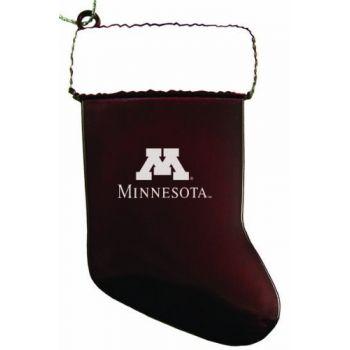 University of Minnesota - Christmas Holiday Stocking Ornament - Burgundy
