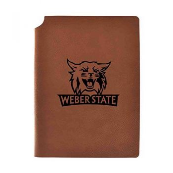 Weber State University Velour Journal with Pen Holder|Carbon Etched|Officially Licensed Collegiate Journal|