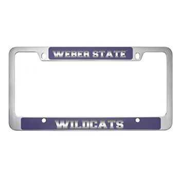Weber State University -Metal License Plate Frame-Purple