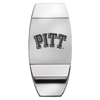 University of Pittsburgh - Two-Toned Money Clip - Silver
