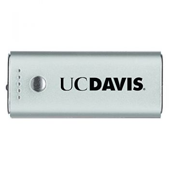 University of California, Davis -Portable Cell Phone 5200 mAh Power Bank Charger -Silver