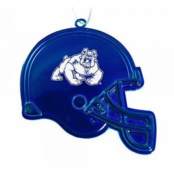 California State University, Fresno - Christmas Holiday Football Helmet Ornament - Blue