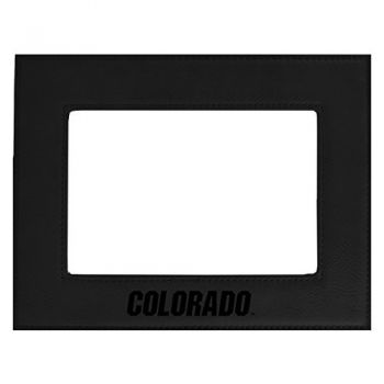 University of Colorado-Velour Picture Frame 4x6-Black