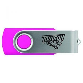 Towson University -8GB 2.0 USB Flash Drive-Pink