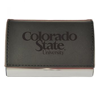 Velour Business Cardholder-Colorado State University-Black