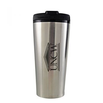 University of North Carolina Wilmington -16 oz. Travel Mug Tumbler-Silver
