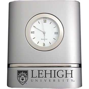 Lehigh University- Two-Toned Desk Clock -Silver