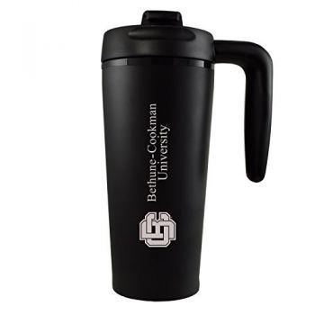 Bethune-Cookman University-16 oz. Travel Mug Tumbler with Handle-Black