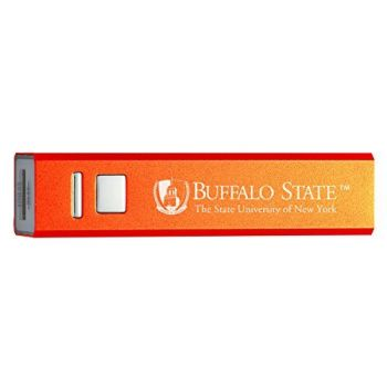 Buffalo State, State University of New York - Portable Cell Phone 2600 mAh Power Bank Charger - Orange