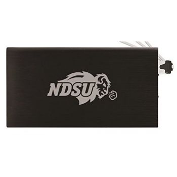 8000 mAh Portable Cell Phone Charger-North Dakota State University -Black