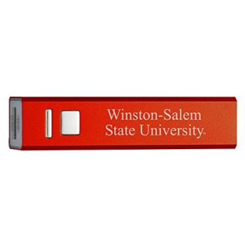 Winston-Salem State University - Portable Cell Phone 2600 mAh Power Bank Charger - Red