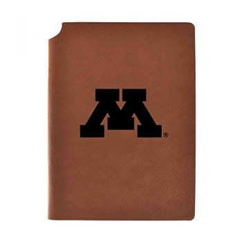 University of Minnesota Velour Journal with Pen Holder|Carbon Etched|Officially Licensed Collegiate Journal|